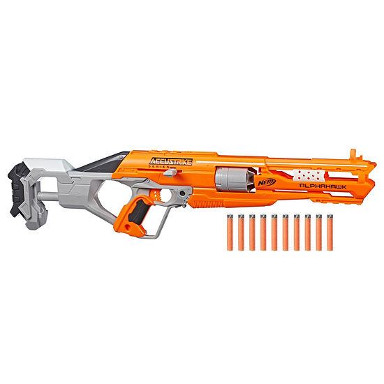 Nerf Accustrike AlphaHawk includes 10 darts