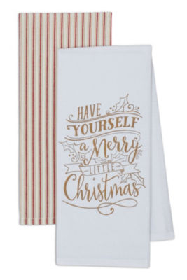 Merry Little Christmas Dishtowel Set - Set of 4