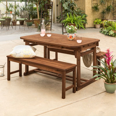 Acacia Wood 3-pc. Patio Dining Set