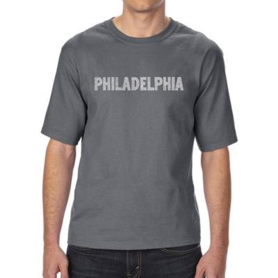 Los Angeles Pop Art Men's Tall and Long Word Art T-shirt - PHILADELPHIA NEIGHBORHOODS