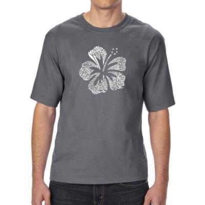 Los Angeles Pop Art Men's Tall and Long Word Art T-shirt - Mahalo