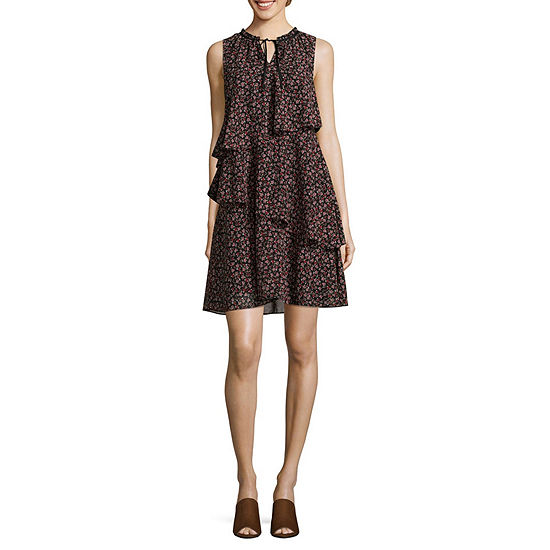 Libby Edelman Sleeveless Floral Swing Dresses