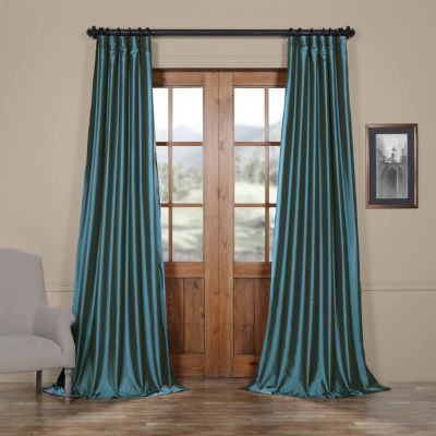 Exclusive Fabrics & Furnishing Faux Silk Taffeta Curtain Panel