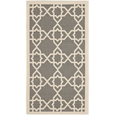 Safavieh Courtyard Collection Nicol Geometric Indoor/Outdoor Area Rug