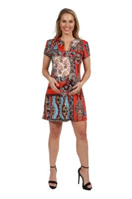 24Seven Comfort Apparel Cynthia Maternity Mini Dress