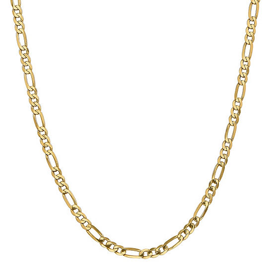 14K Gold 16 Inch Solid Figaro Chain Necklace