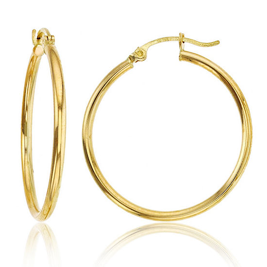 14K Gold 30mm Hoop Earrings