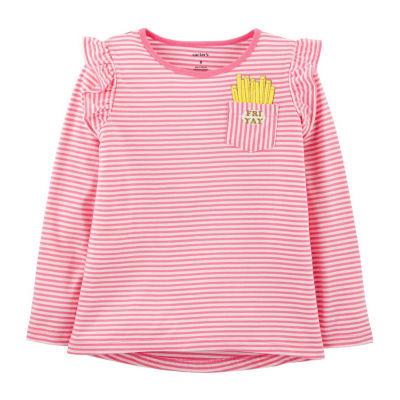 Carter's Fri-Yay Striped Hi-Lo Tee - Preschool Girl