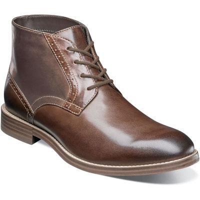 Nunn Bush Middleton Plain Toe Mens Chukka Boots Flat Heel Lace-up