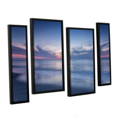 Brushstone Atlantic Sunrise No.7 4-Piece Floater-Framed GalleryWrapped Canvas Staggered Set