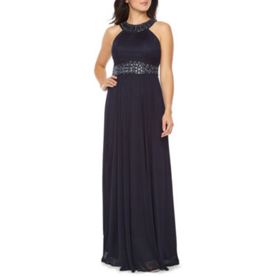 One By Eight Sleeveless Beaded Evening Gown