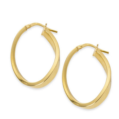 Made In Italy 24K Gold Over Silver Sterling Silver 28mm Hoop Earrings