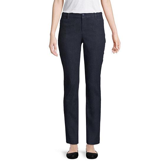 St. John's Bay Womens Straight Fit Straight Trouser