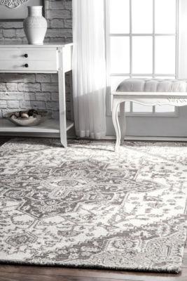 nuLoom Dewitt Floral Wool Hand Tufted Handmade Area Rug