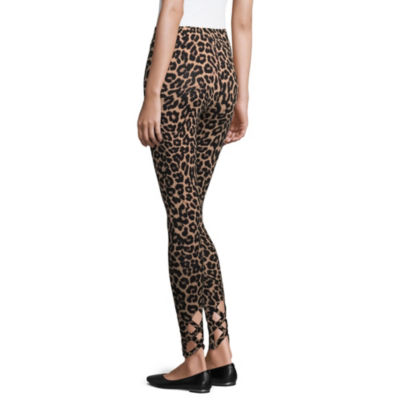 Mixit Knit Printed Ankle Detail Leggings