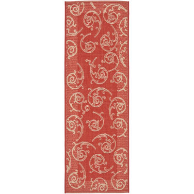 Safavieh Courtyard Collection Torvald Oriental Indoor/Outdoor Runner Rug