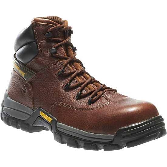 Wolverine Mens Guardian Lace Up Slip Resistant Composite Toe Work Boots