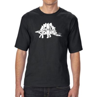 Los Angeles Pop Art Men's Tall and Long Word Art T-shirt - STEGOSAURUS