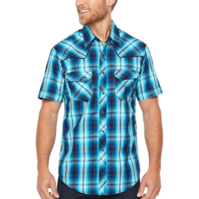 Ely Cattleman Short Sleeve Plaid BSnap-Front Shirt