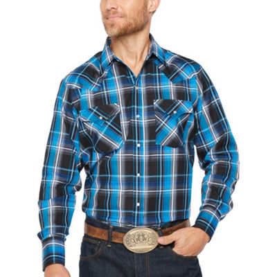 Ely Cattleman Long Sleeve Plaid Snap-Front Shirt