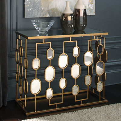 Signature Design by Ashley Majaci Mirrored Console Table