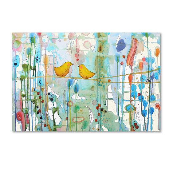 Trademark Fine Art Sylvie Demers Dans Chaque CoeurGiclee Canvas Art