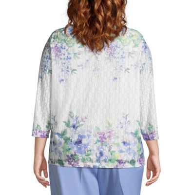 Alfred Dunner Day Dreamer Falling Flowers Tee - Plus