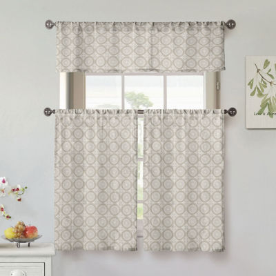 Duck River Lolana 3-Piece Kitchen Curtain Set