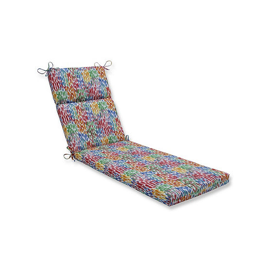 Pillow Perfect Make It Rain Zinnia Patio Chaise Lounge Cushion