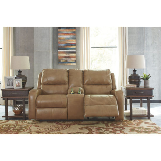 Signature Design By Ashley® Roogan Reclining Loveseat With Console