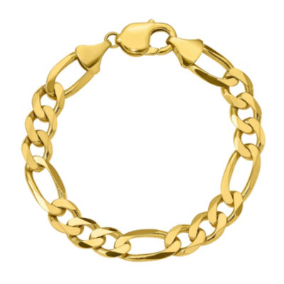 Mens 8 Inch 10K Gold Chain Bracelet