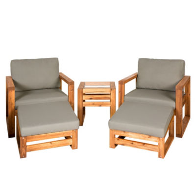 Hudson Open Side 5-pc. Outdoor Patio Chat Set