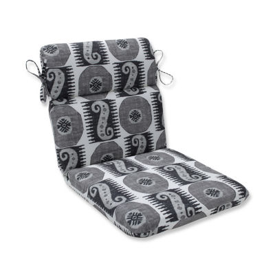 Pillow Perfect Souk Treasure Midnight Rounded Corners Patio Chair Cushion
