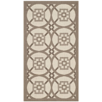 Safavieh Courtyard Collection Hadley Geometric Indoor/Outdoor Area Rug