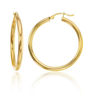 14K Gold 35mm Hoop Earrings