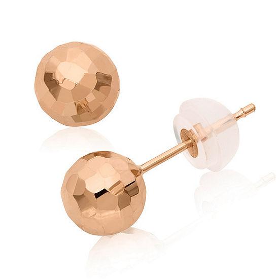 14k Rose Gold 6mm Stud Earrings