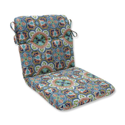 Pillow Perfect Lagoa Tile Flamingo Rounded Corners Patio Chair Cushion