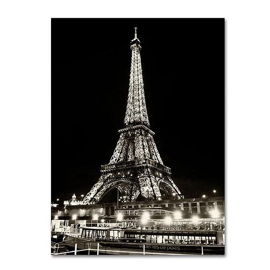 Trademark Fine Art Philippe Hugonnard Eiffel TowerParis Giclee Canvas Art