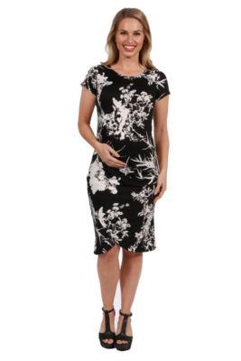 24Seven Comfort Apparel Diana Maternity Dress