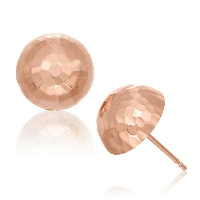 14K Rose Gold 10mm Stud Earrings