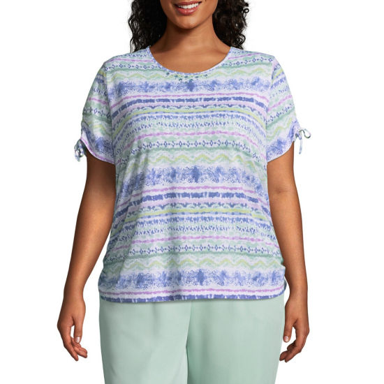 Alfred Dunner Day Dreamer Biadere Tee - Plus