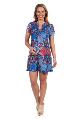 24Seven Comfort Apparel Monica Maternity Mini Dress - Plus