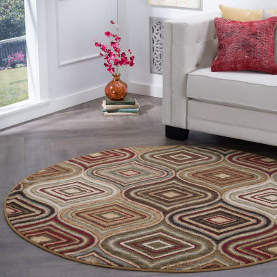 Tayse Darbee Contemporary Geometric Round Area Rug