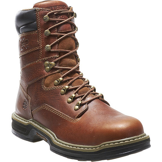 Wolverine Mens Raider Slip Resistant Steel Toe Work Boots Lace Up