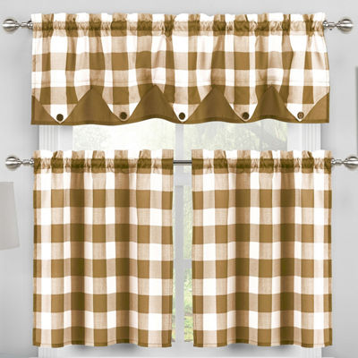 Duck River Kingdy 3-Piece Kitchen Curtain Set