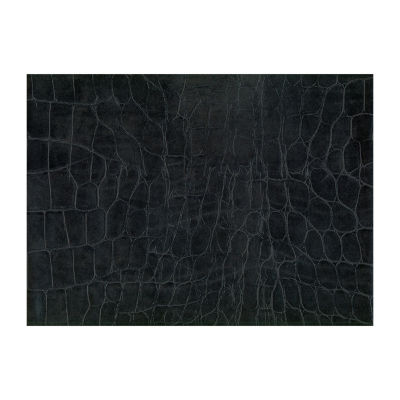 Brewster Wall Crocodile Black Adhesive Film Wall Decal