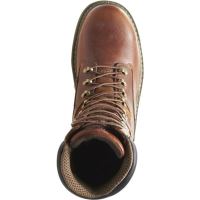 Wolverine Mens Raider Work Boots Slip Resistant Steel Toe Lace-up