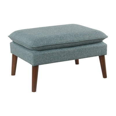 Homepop Medium Ottoman with Pillowtop