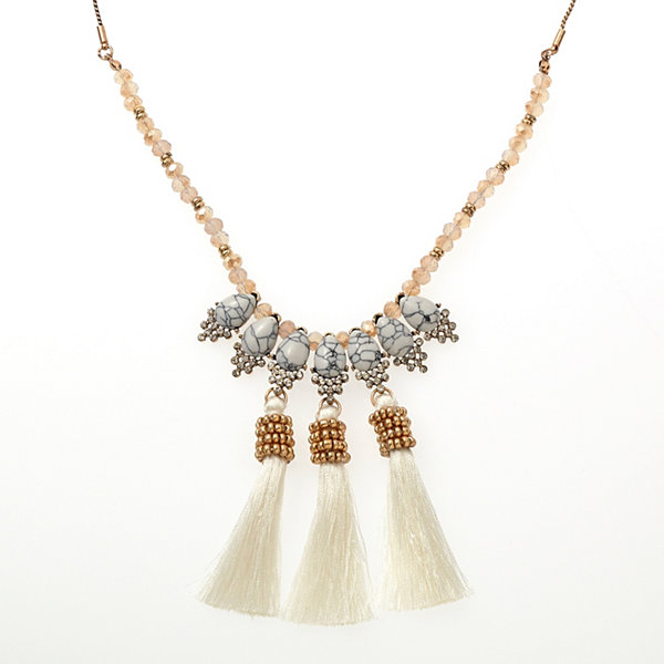 Bijoux Bar Clear Beaded Necklace