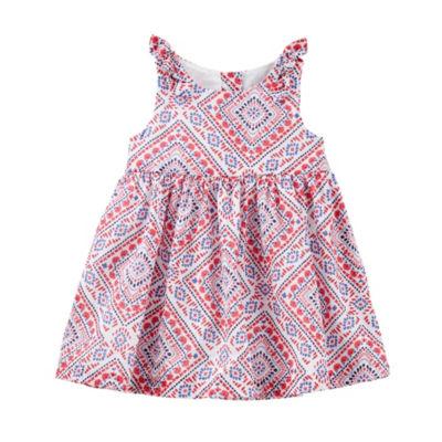 Oshkosh Print Babydoll Dress - Baby Girls